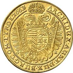 05663r Holy Roman Empire. Leopold I, 1657-1705. 10 ducats 1663