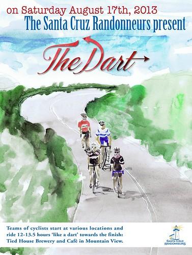 Santa Cruz Randonneurs Dart Poster