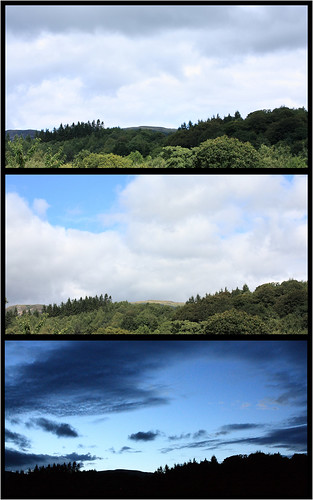Changing light triptych by Helen in Wales