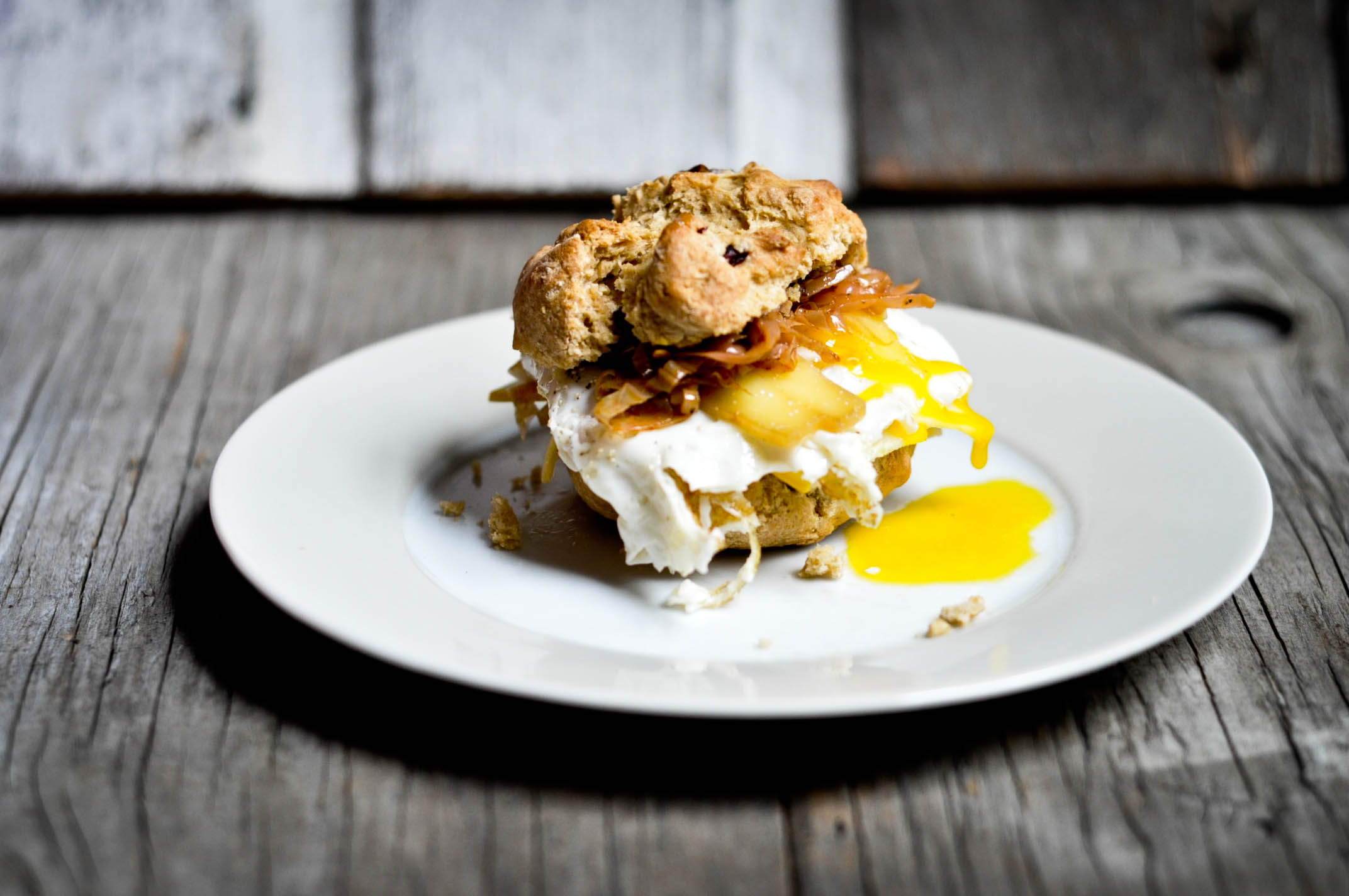 Irish Scone Egg Sandwich