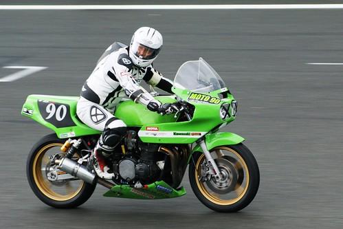 Vincent Eisen (Kawa GG, 1972_Team Moto 90 - Eisen_BOC)... a des admirateurs dans la foule !