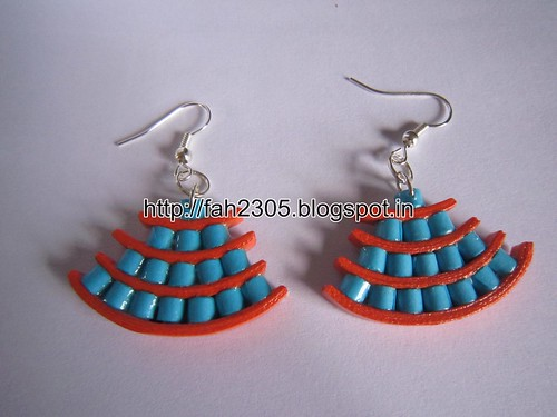 Handmade Jewelry - Paper Quilling Egyptian Style Earrings (4) by fah2305