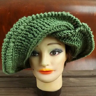 This is the FRONTIER #crochet #hat by #strawberrycouture on #etsy #Etsy I bought the desert glaze #orange 2 skeins of #yarn for it.