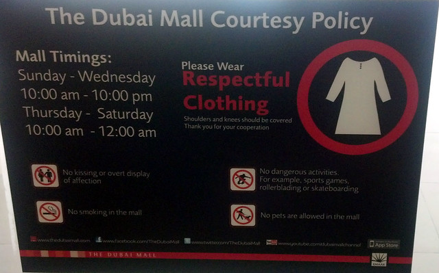 Dubai Mall Courtesy Policy