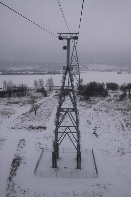 Rising above the ground on the Bor side
