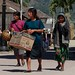 Women carrying boxes; Ocosingo, Chiapas, Mexico