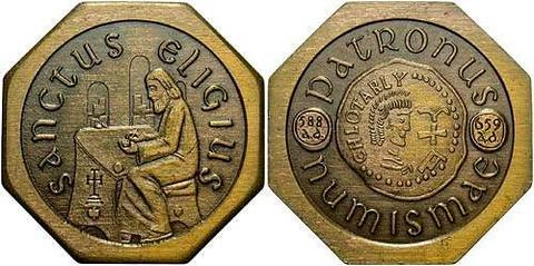 St Eligius, Patron saint of Numismatics