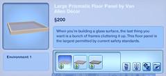 Large Prismatic Floor Panel by Van Allen Decor