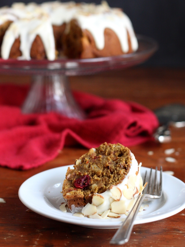 Pumpkin Cranberry Bundt Cake