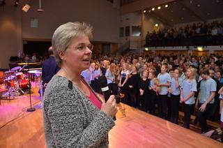 Brassbandfestivalen 2013 - SBBF:s ordförande Berit Palmquist (Foto: Olof Forsberg)