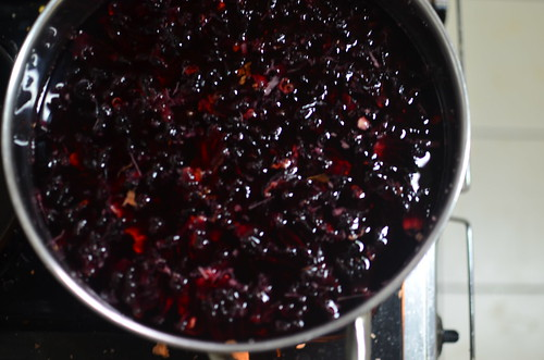 'Brewing' Zobo (Hibiscus) drink