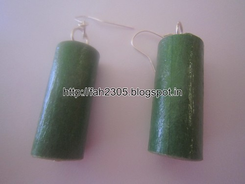 Handmade Jewelry - Rolled Cylinder Paper Earrings (4) by fah2305