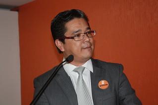 O organizador do Evento Regional em Taboão da Serra, vereador Ronaldo Onishi