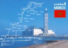Moroco Maroc Stamps Maps