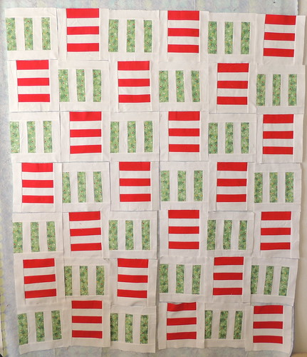 Red & Green Flannel Stripes Blocks