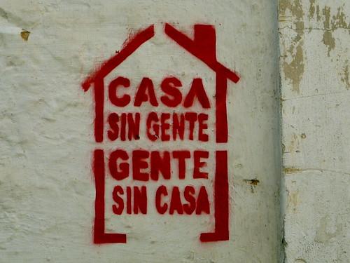 Casa sin gente, gente sin casa Stempel