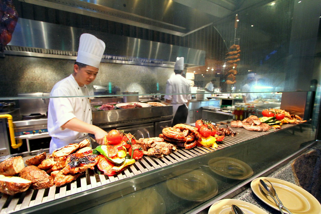 Grand Hyatt Singapore: Oasis Grill kitchen
