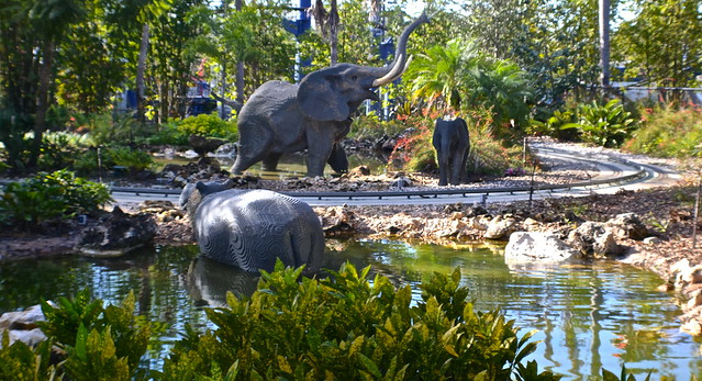 Legoland, Florida -- elephants at safari trek