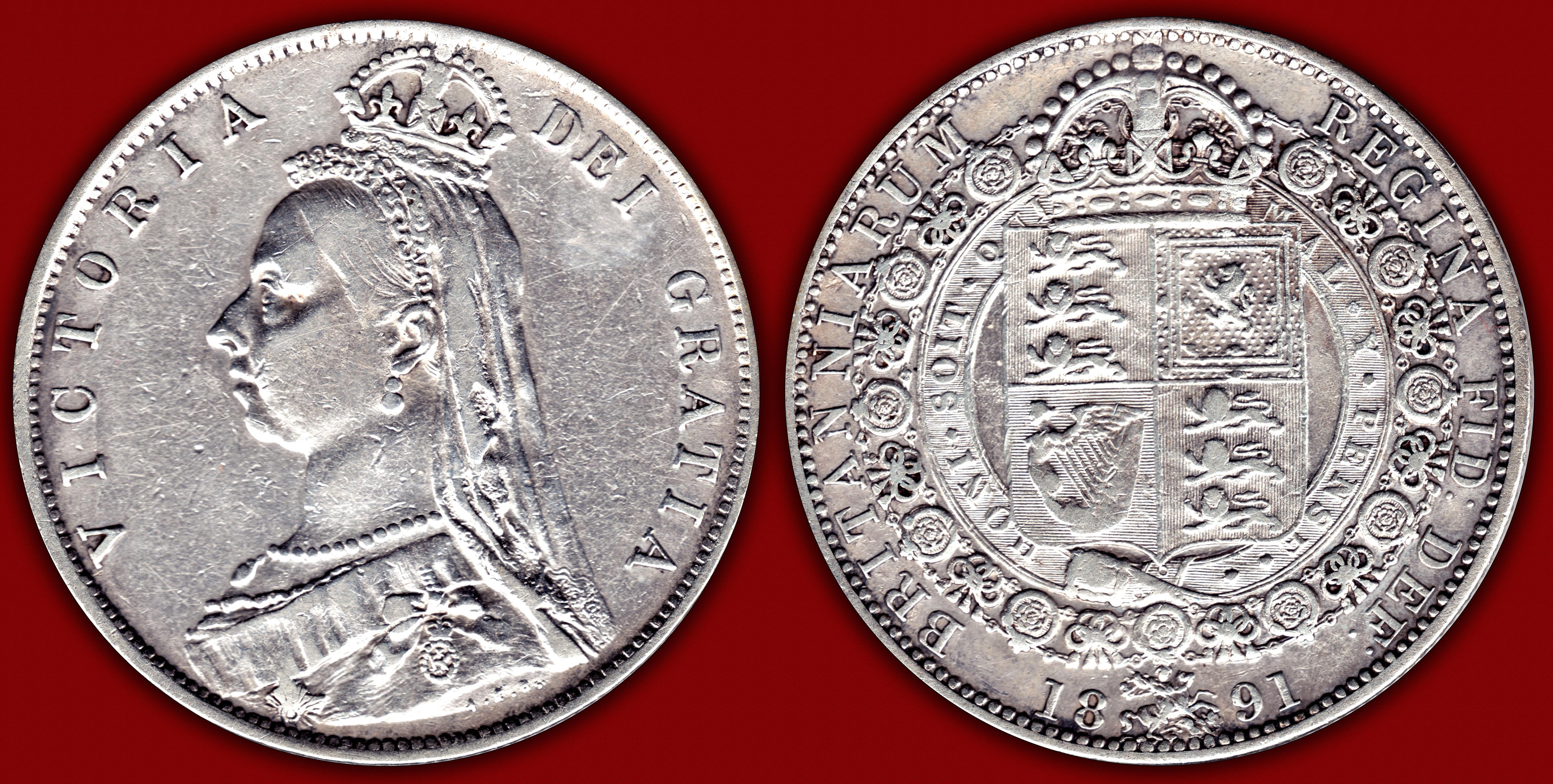 Gran Bretaña 1891 - Media Corona - Jubileo de la Reina Victoria 11737148233_2951174299_o