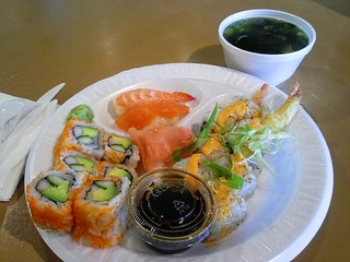 Sushi with Miso Soup
