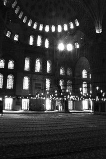 Natural and electric lights - The Blue Mosque, Istanbul