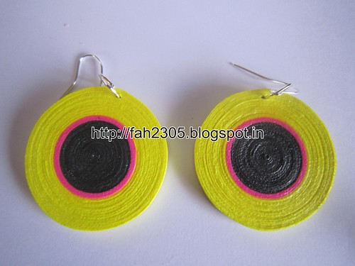 Handmade Jewelry - Paper Quilling Disk Earrings (2) by fah2305