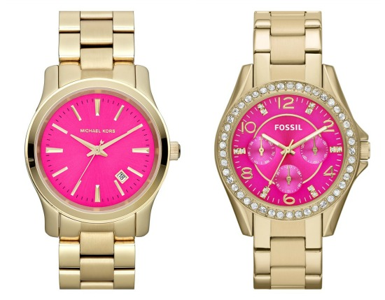 Hi Sugarplum | Michael Kors vs Fossil watches