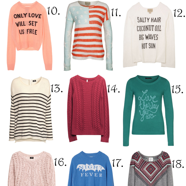 Must have: sweaters