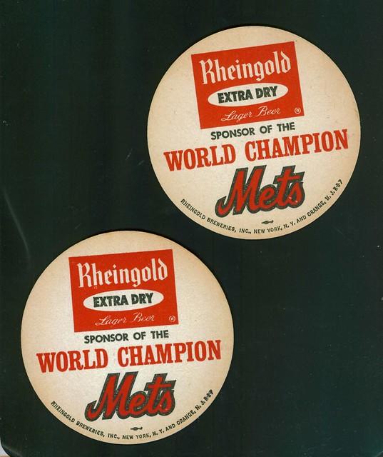 Mets Rheingold Coasters World Champions