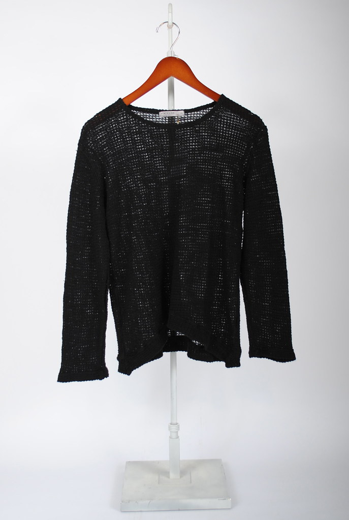 Bubble Stitch Long-Sleeve Sweater