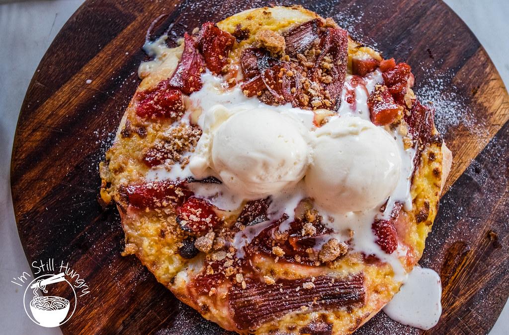 Vesta Italian strawberry & rhubarb pizza