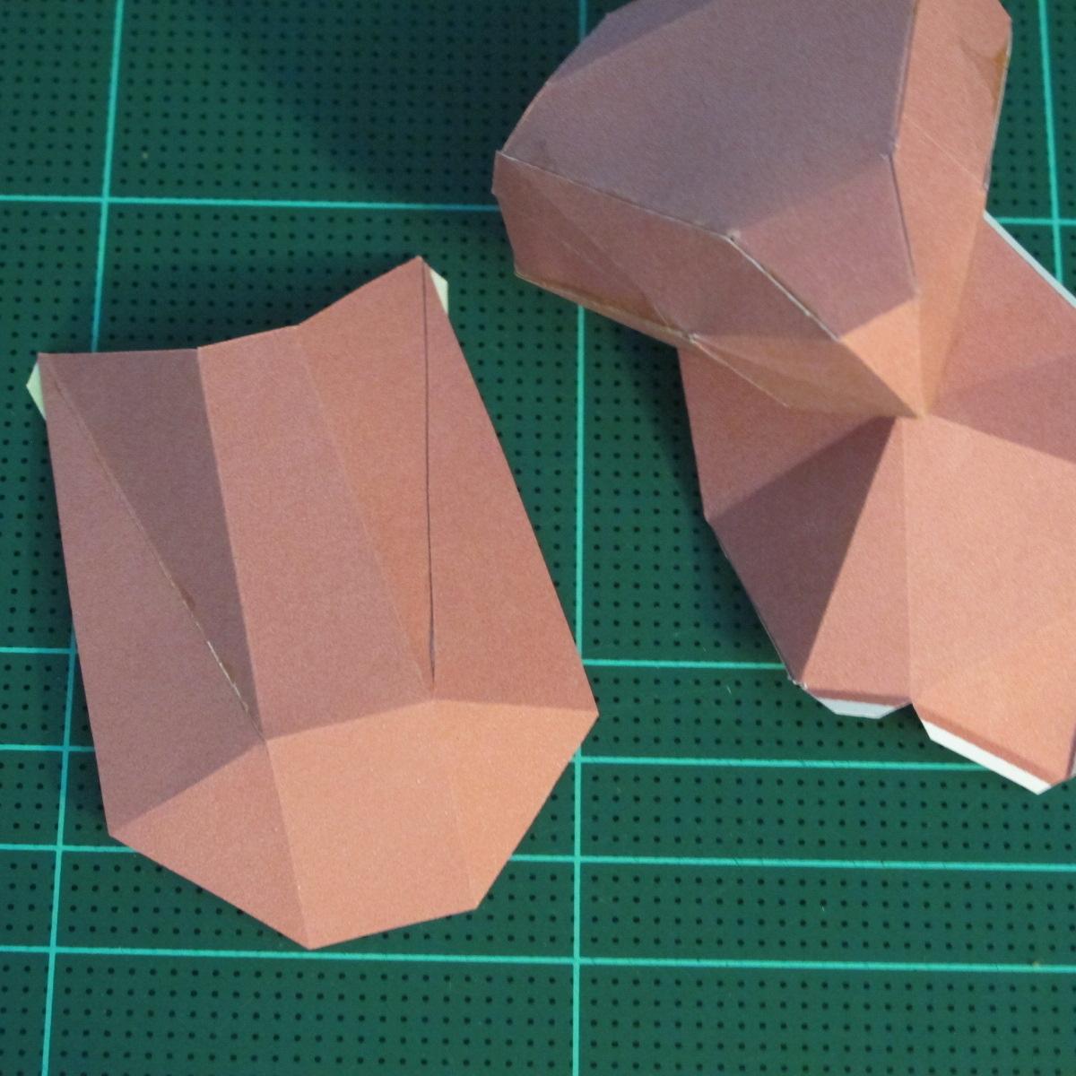 วิธีทำโมเดลกระดาษเรขาคณิตรูปกระต่าย (Rabbit Geometric Papercraft Model) 017