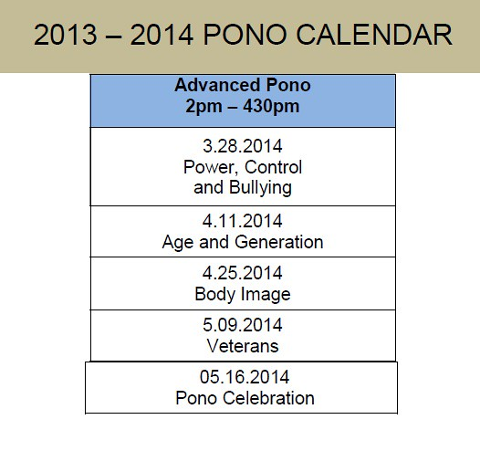 pono advanced calendar