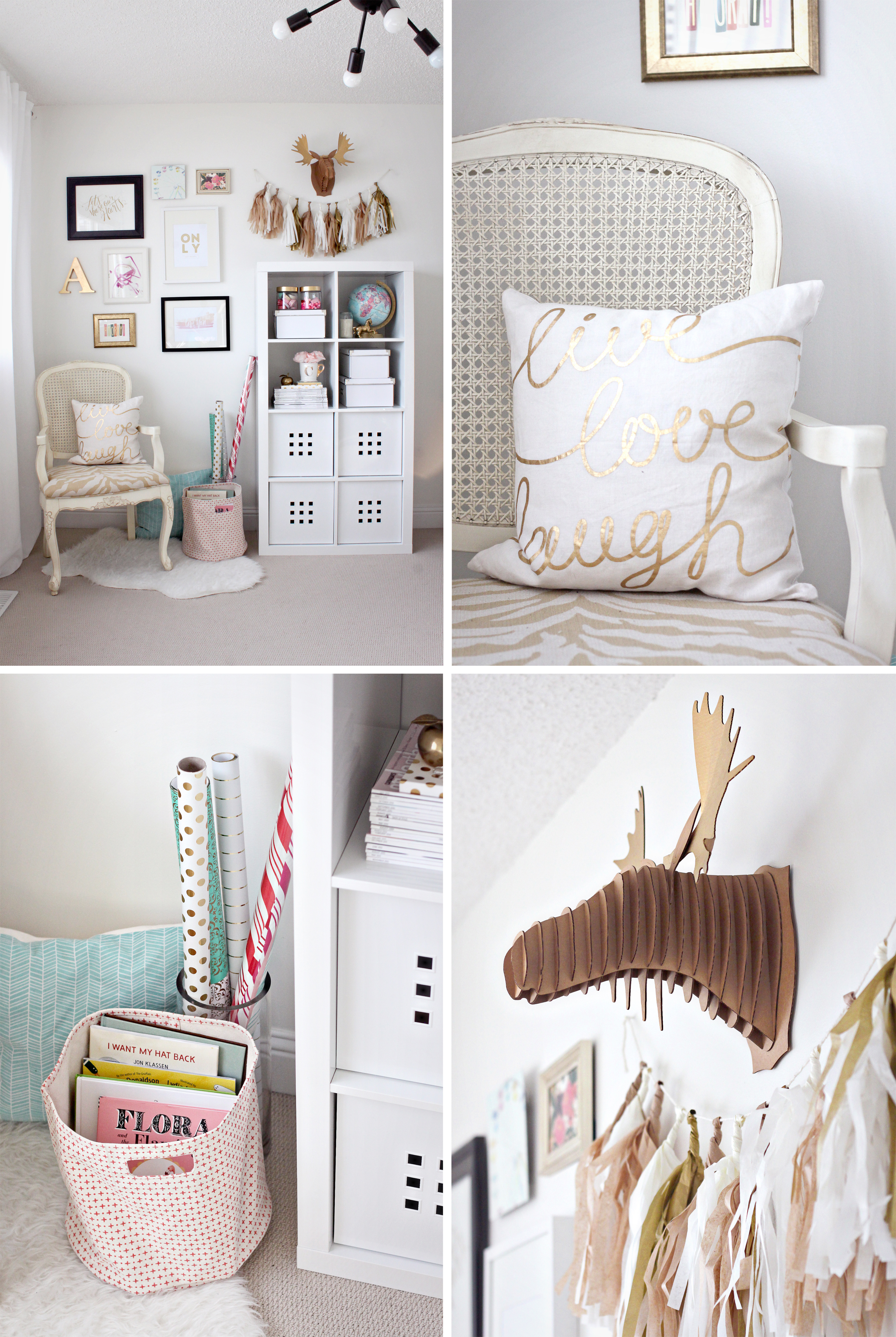 Gold Pink Home Office
