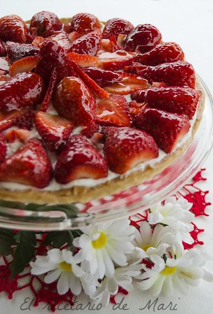 tarta de requesón y fresas1