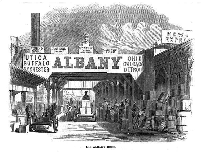 albany dock 1862  albany ny 1860s
