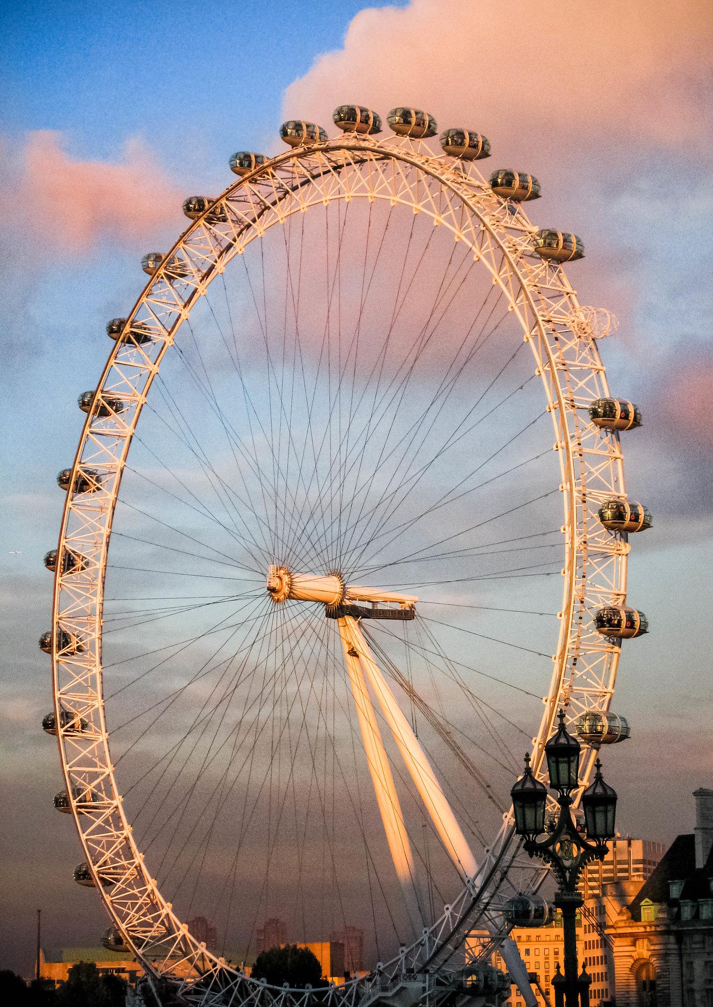 London Eye, Pinks and Blues