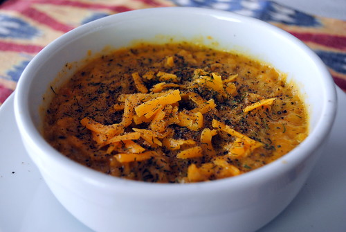 Cauliflower-Broccoli Cheddar Soup