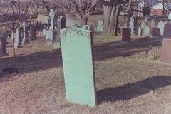 old white tombstone