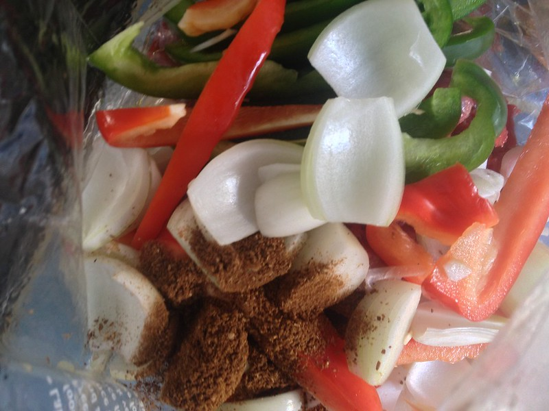 Beef Fajitas : Add the Spices