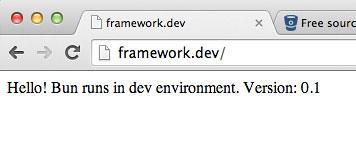 framework.dev Bun Framework