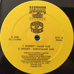 POWER OF THREE:WIGSEY(LABEL SIDE-A)
