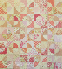 Pink Fluffy Bunny Quilt Top