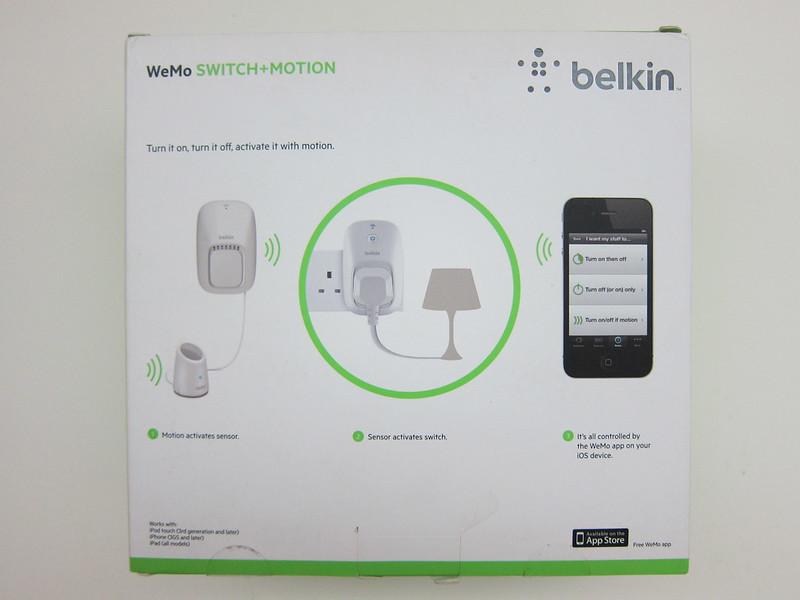 WeMo Switch + Motion - Box Back