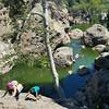Climbing to success #socal #hiking #bouldering #malibucreek #nature #swimminghole #losangeles #LA #tw #fitness #fitfam