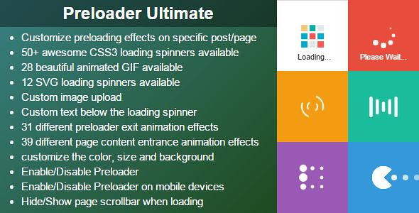 Preloader Ultimate WordPress Plugin free download