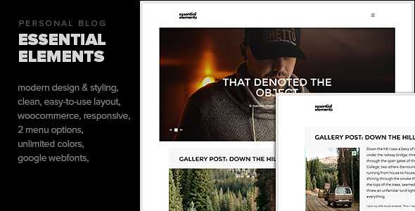 Essential Elements WordPress Theme free download