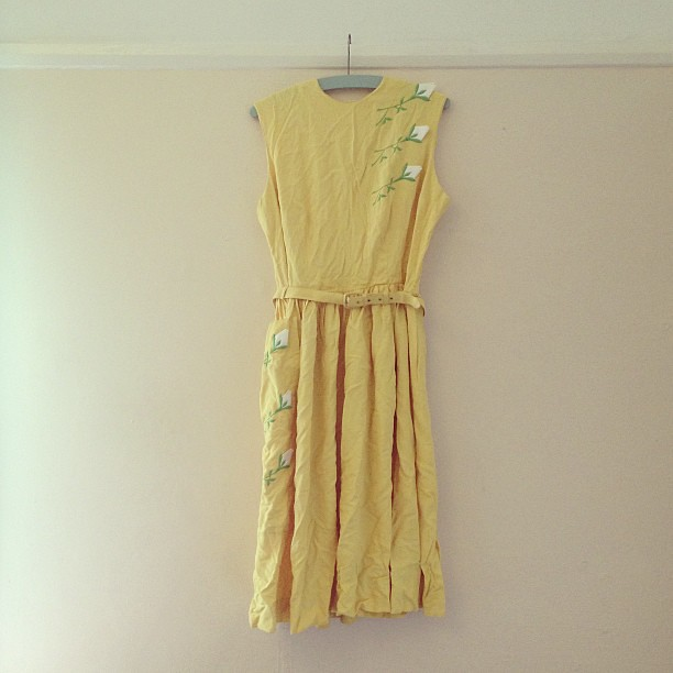 1950s dress I rescued from the jumble for £2.50 today.