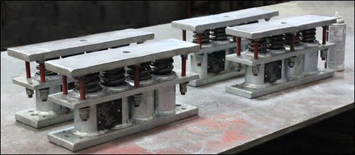 "Custom ""Mini"" Big Ton Spring Supports Designed for a Centrifugal Fan in an Chemical Refinery"