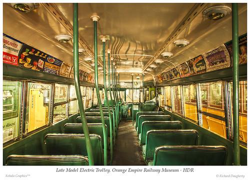 california railroad trolley wideangle multipleexposure hdr trolleycar perris orangeempirerailwaymuseum tonemap